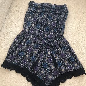 Target Strapless Romper with Tie